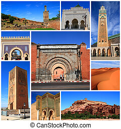 Impressions of Morocco, Collage of Travel Images
