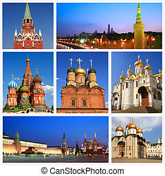 Impressions of Moscow, Collage of Travel Images