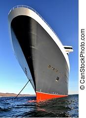 Impressive cruise ship bow