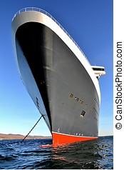 Impressive cruise ship bow