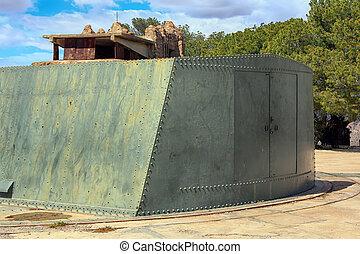 impressive military cannon for coastal defense