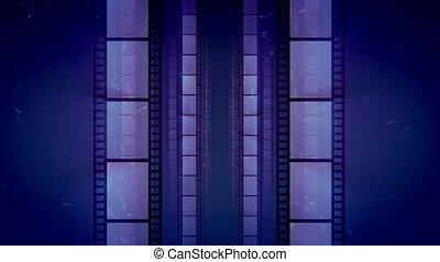 """Impressive Retro Film Tape Movement"" - ""A vintage 3d..."