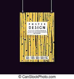 impressive yellow poster template design
