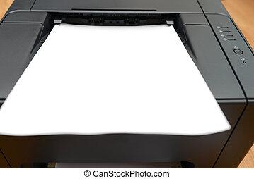 impressora, laser, escritório