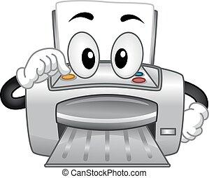 impressora, mascote