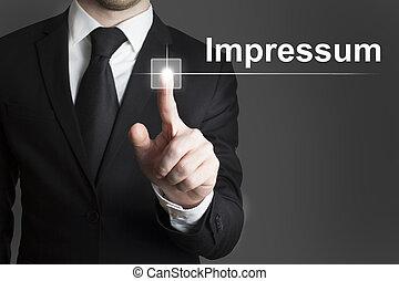 impressum, touchscreen