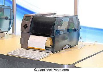 imprimante, étiquette