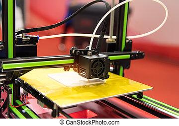 imprimante, additif, technology., automation, robotique, fabrication, ou, 3d