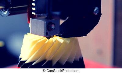 imprimante, automatique, plastique, exécute, modelage, laboratory., 3d