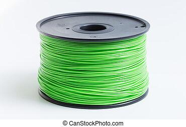 imprimante, lumière, backgrou, contre, clair, vert, filament...