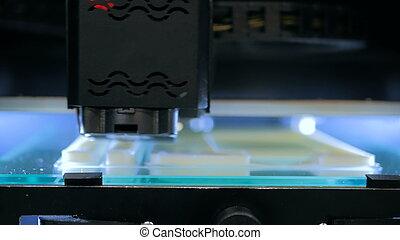 imprimante, pendant, travail, 3d