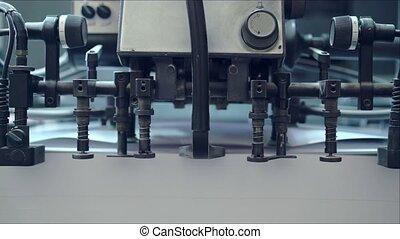 imprimante, plante, industriel, fonctionnement