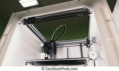 imprimante, printer., item., caractères, 3d