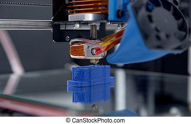 imprimante, processes., fonctionnement, mécanisme, conception, yelement, appareil, pendant, 3d