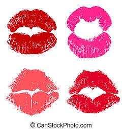 Imprint of a kiss .