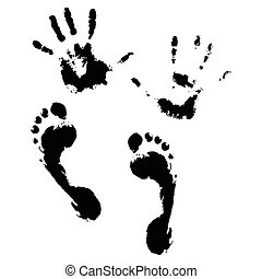 Imprint of hands and feet