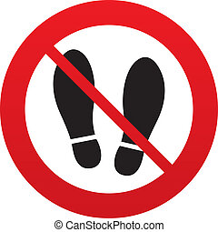 Imprint shoes sign icon. Shoe print symbol - Imprint soles...