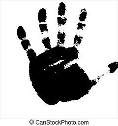 imprints of hand. Vector