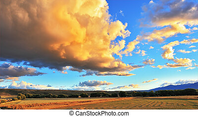 Improbably beautiful huge storm cloud
