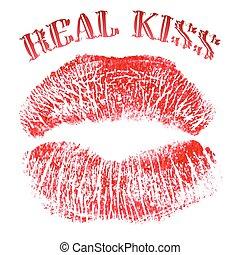 impronta, lipstick., donne