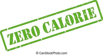 impronta, zero, caloria, verde