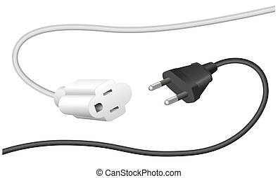 Improper Plug Extension Cable - Improper plug and extension...