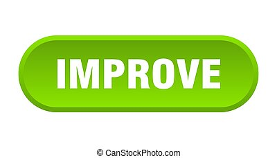 improve button. improve rounded green sign. improve
