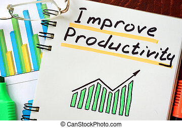Improve Productivity written in a notepad. Business concept.