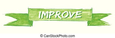 improve ribbon - improve hand painted ribbon sign