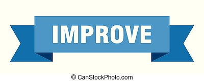 improve ribbon. improve isolated sign. improve banner