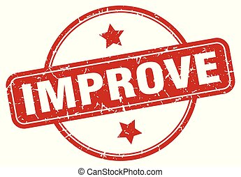 improve sign - improve vintage round isolated stamp