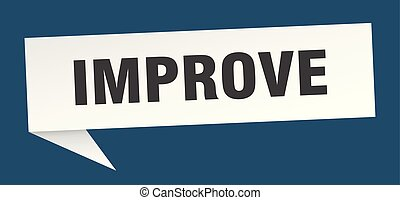 improve speech bubble. improve sign. improve banner