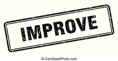 improve stamp. improve square grunge sign. improve