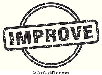 improve vintage stamp. improve sign