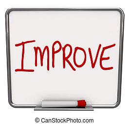 Improve Word on Dry Erase Board Encouraging Change