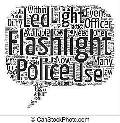 Improved LED Flashlights for Law Enforcement text background...