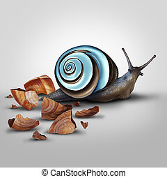 Improvement Concept - Improvement concept as a snail...
