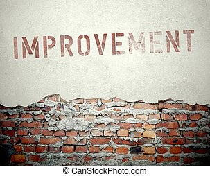 Improvement concept on old brick wall