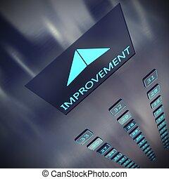 Improvement elevator 3D Rendering - Image of an elevator...