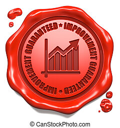 Improvement Guaranteed - Stamp on Red Wax Seal. - ...