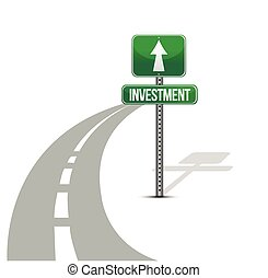 improvement of investment road illustration design over...