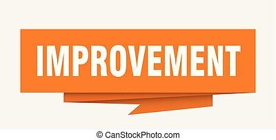 improvement sign. improvement paper origami speech bubble....