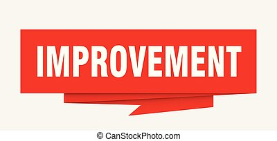 improvement sign. improvement paper origami speech bubble. ...