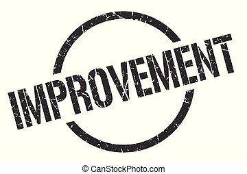 improvement stamp - improvement black round stamp