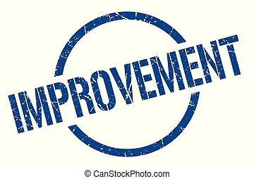 improvement stamp - improvement blue round stamp