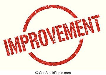 improvement stamp - improvement red round stamp