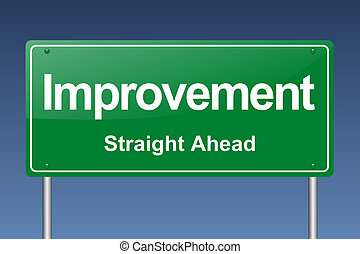 improvement traffic sign