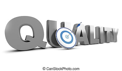 Improving Quality Standards - Word quality written in 3D...