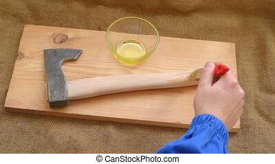 Improving tourist axe - Upgrade axe. Paintwork handle axe ...