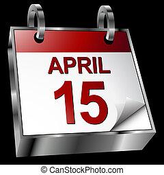 impuesto, calendario, fecha tope